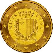 Malta 10 Euro Cent Maltese coat of arms 2008 Proof KM# 128 MALTA 2008 REPUBBLIKA TA' MALATA F coin obverse