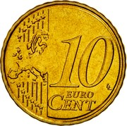 Malta 10 Euro Cent Maltese coat of arms 2008 Proof KM# 128 10 EURO CENT LL coin reverse