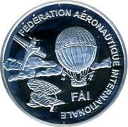 Finland 10 Euro First World Air Games 1997 Proof X# 45 FÉDÉRATION AÉRONAUTIQUE INTERNATIONALE FAI coin obverse