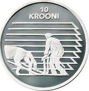 Estonia 10 Krooni Independence (1998) Proof KM# 32 10 KROONI coin reverse