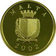 Malta 10 Liri Xprunara 2002 Prooflike KM# 119 MALTA 2002 coin obverse