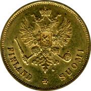 Finland 10 Markkaa Narrow eagle 1878 S KM# 8.1 FINLAND SUOMI S coin obverse