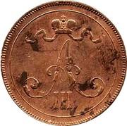 Finland 10 Pennia Aleksandr III 1891 KM# 12 A III coin obverse
