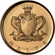 Malta 10 Pounds Kenur 1972 KM# 16 MALTA coin obverse