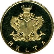 Malta 10 Pounds Maltese centaury 1974 KM# 26 MALTA coin obverse