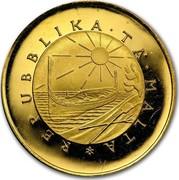 Malta 10 Pounds Maltese falcon 1975 KM# 35 REPUBLIKA TA MALTA coin obverse