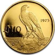 Malta 10 Pounds Maltese falcon 1975 KM# 35 1975 LM10 coin reverse