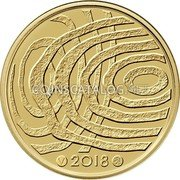 Finland 100€ (100 Years Blue Bioeconomy) 2018 coin reverse