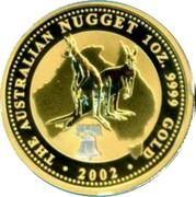 Australia 100 Dollars (Kangaroos. Tribute to Liberty) KM# 693a THE AUSTRALIAN NUGGET 1OZ. 9999 GOLD 2002 coin reverse