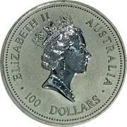Australia 100 Dollars (Koala) ELIZABETH II AUSTRALIA 100 DOLLARS RDM coin obverse