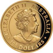 Australia 100 Dollars Wedge-Tailed Eagle 2019 Proof ELIZABETH II AUSTRALIA 100 DOLLARS coin obverse