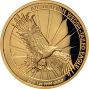 Australia 100 Dollars Wedge-Tailed Eagle 2019 Proof AUSTRALIAN WEDGE-TAILED EAGLE 2019 1 OZ .9999 GOLD coin reverse