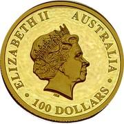 Australia 100 Dollars Wedge-tailed Eagle High Relief 2018 P Proof ELIZABETH II AUSTRALIA • 100 DOLLARS • IRB coin obverse