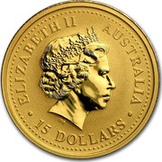 Australia 15 Dollars Nugget 2006 ELIZABETH II AUSTRALIA • 15 DOLLARS • IRB coin obverse