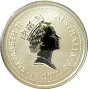 Australia 15 Dollars (The Australian Koala) ELIZABETH II AUSTRALIA • 15 DOLLARS • coin obverse