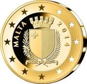 Malta 15 Euro Auberge d'Aragon 2014 Proof KM# 164 MALTA 2014 coin obverse