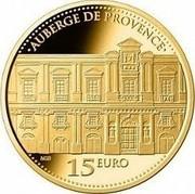 Malta 15 Euro Auberge De Provence 2013 AUBERGE DE PROVENCE 15 EURO NGB coin reverse