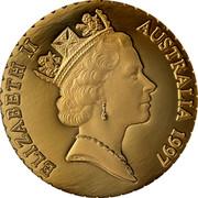 Australia 150 Dollars Mangles' Kangaroo Paw Flower 1997 Proof ELIZABETH II AUSTRALIA 1997 coin obverse