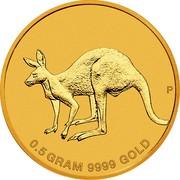 Australia 2 Dollars Mini Roo Kangaroo 2019 P 0.5 GRAM 9999 GOLD coin reverse