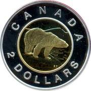 Canada 2 Dollars Polar Bear 2006 (ml) KM# 631 CANADA 2 DOLLARS coin reverse