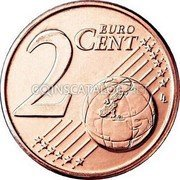 Malta 2 Euro Cent 2008 Proof KM# 126 Euro Coinage coin reverse