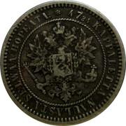 Finland 2 Markkaa Alexander II 1870 S KM# 7.1 47.24 KAPPALETTA NAULASTA SELWÄÄ HOPEATA S coin obverse