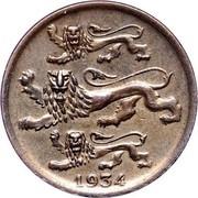 Estonia 2 Senti 1934 KM# 15 Reform Coinage 1934 coin obverse