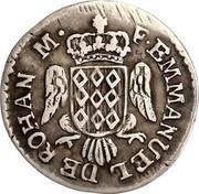 Malta 2 Tari Emmanuel de Rohan 1776 KM# 301.1 F.EMMANUEL DE ROHAN M. coin obverse