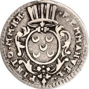 Malta 2 Tari Emmanuel Pinto 1741 KM# 219 .F.EMMANVEL. / PINTO.M.M.H.H. coin obverse