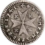 Malta 2 Tari Emmanuel Pinto 1741 KM# 219 +.NVS.MEVM.LEVE.EST.1741. coin reverse