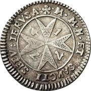Malta 2 Tari Francisco Ximenez de Texada 1774 KM# 290 M.M.H.ET SANCTI SEPV:IERVSA coin reverse