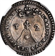Malta 2 Tari Ramon Despuig 1737 KM# 201 ∙S∙P∙L∙RAIMVNDVS DESPVIG M∙M∙NN T 2 coin obverse
