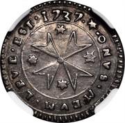 Malta 2 Tari Ramon Despuig 1737 KM# 201 ∙ONVS∙MEVM∙LEVE∙EST∙1737∙ coin reverse