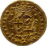 Malta 2 Zecchino Antonio Manoel de Vilhena 1723 KM# 183 M∙M∙NOS: ET S∙S∙ NIPRVI∙1723 coin reverse