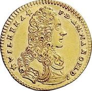 Malta 2 Zecchino Antonio Manoel de Vilhena 1726 KM# 190 VILHENA F∙D:AN:MANOLDE coin obverse
