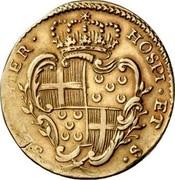 Malta 2 Zecchino Emmanuel Pinto (1742) KM# 235 HOSPI ∙ ET S∙ SEP ∙ HIER ∙ coin reverse