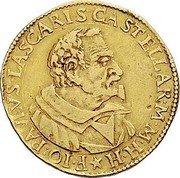Malta 2 Zecchino Giovani Paolo Lascaris Castellar (1636-1657) KM# 21 F IO PAVLVS LASCARIS CASTELLAR M M H H coin obverse