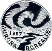 Finland 20 ECU Aurora Borealis 1997 Proof X# 7 1997 AURORA BOREALIS coin obverse