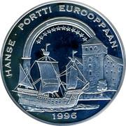 Finland 20 ECU Hanse 1996 Proof X# 36 HANSE PORTTI EUROOPPAAN 1996 coin obverse