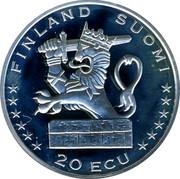 Finland 20 ECU Hanse 1996 Proof X# 36 FINLAND SUOMI 20 ECU coin reverse