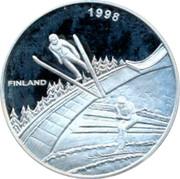 Finland 20 ECU Rangifer Tarandus 1998 Proof 1998 FINLAND coin obverse