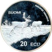 Finland 20 ECU Rangifer Tarandus 1998 Proof SUOMI RANGIFER TARANDUS 20 ECU coin reverse