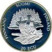 Finland 20 ECU Rovaniemi 1994 Proof X# 17 FINLAND SUOMI FINLAND 20 ECU coin reverse