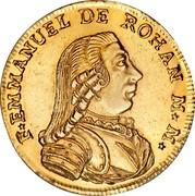 Malta 20 Scudi Emmanuel de Rohan 1778 KM# 311 F EMMANUEL DE ROHAN M * M * coin obverse