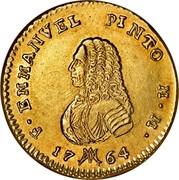 Malta 20 Scudi Emmanuel Pinto 1764 KM# 276 F∙ EMMANVEL PINTO M∙M∙ 17 64 coin obverse