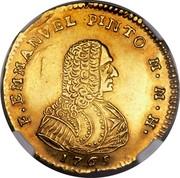 Malta 20 Scudi Emmanuel Pinto 1765 KM# 277 F EMMANVEL PINTO M M H coin obverse