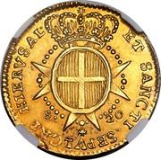 Malta 20 Scudi Emmanuel Pinto 1765 KM# 277 ET SANCTI SEPVLCRI HIERVSAL S 20 coin reverse
