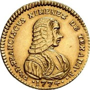 Malta 20 Scudi Francisco Ximenez de Texada 1774 KM# 294 FR∙D∙FRANSISCVS XIMENEZ DE TEXADA∙M∙ ∙1774∙ coin obverse