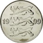 Estonia 20 Senti 1999 KM# 23a Standard Coinage coin obverse