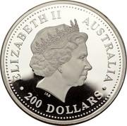 Australia 200 Dollars Koala 1999 P ELIZABETH II AUSTRALIA IRB ∙ 200 DOLLARS ∙ coin obverse